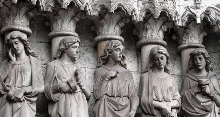 Statues of angels in a Catholic church in Ireland