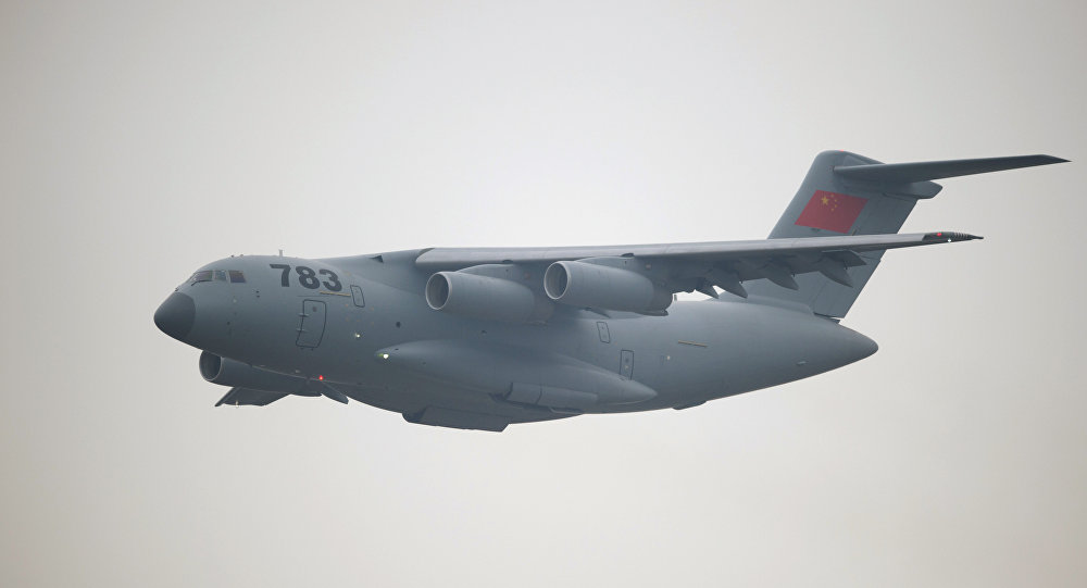 China's biggest military transport plane the Y-20