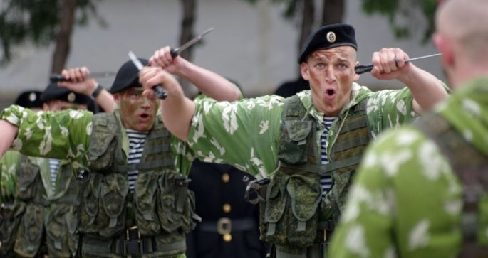 'Black Death' That Guards Moscow: Russia Celebrates Naval Infantry Day
