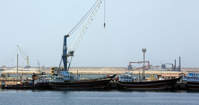 A partial view of the Kalantari port in city of Chabahar