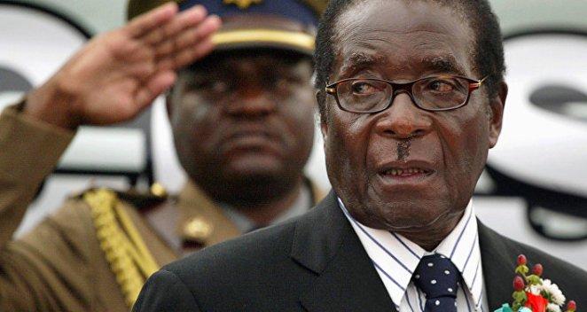 Zimbabwe President Robert Mugabe attends the launch of basic commodities in Harare, Zimbabwe July 16, 2008