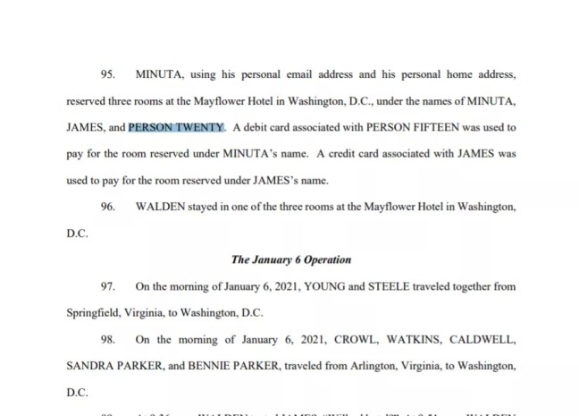 Person Twenty mentioned in DoJ indictment.