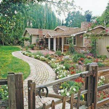 Cottage Garden Ideas Wood Fence 36 Pieces Jigsaw Puzzle