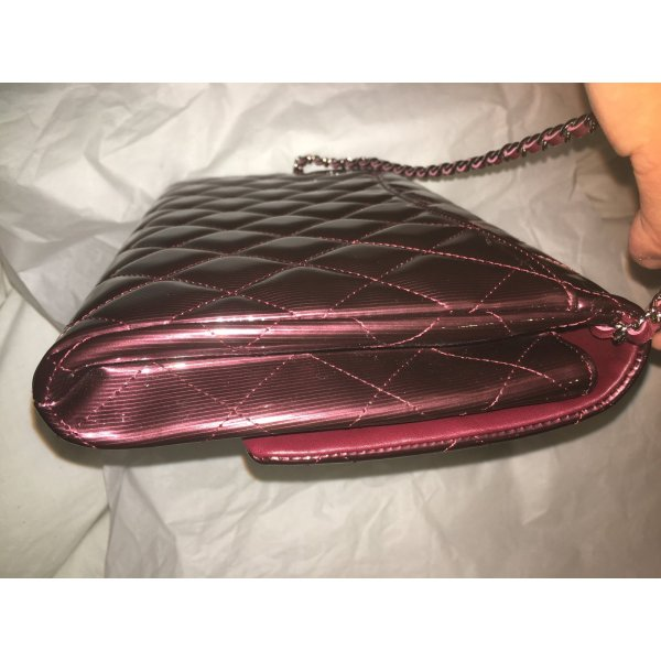 Chanel Timeless Clutch Bags Patent Leather Dark Red