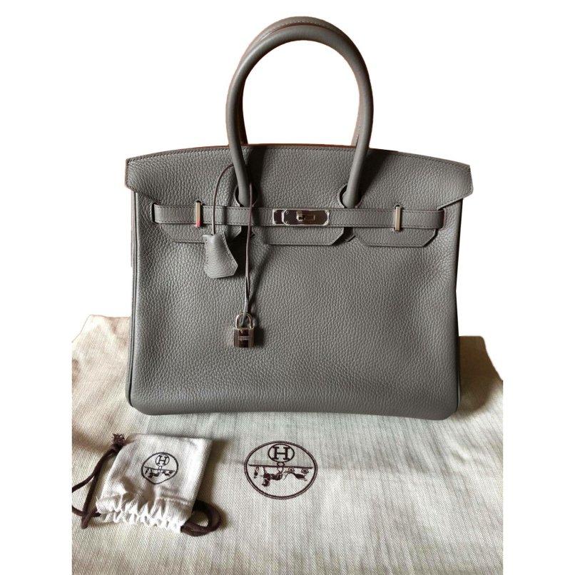 4a964395f6de Hermès Birkin 35 Handbags Leather Taupe Ref 65838 Joli Closet
