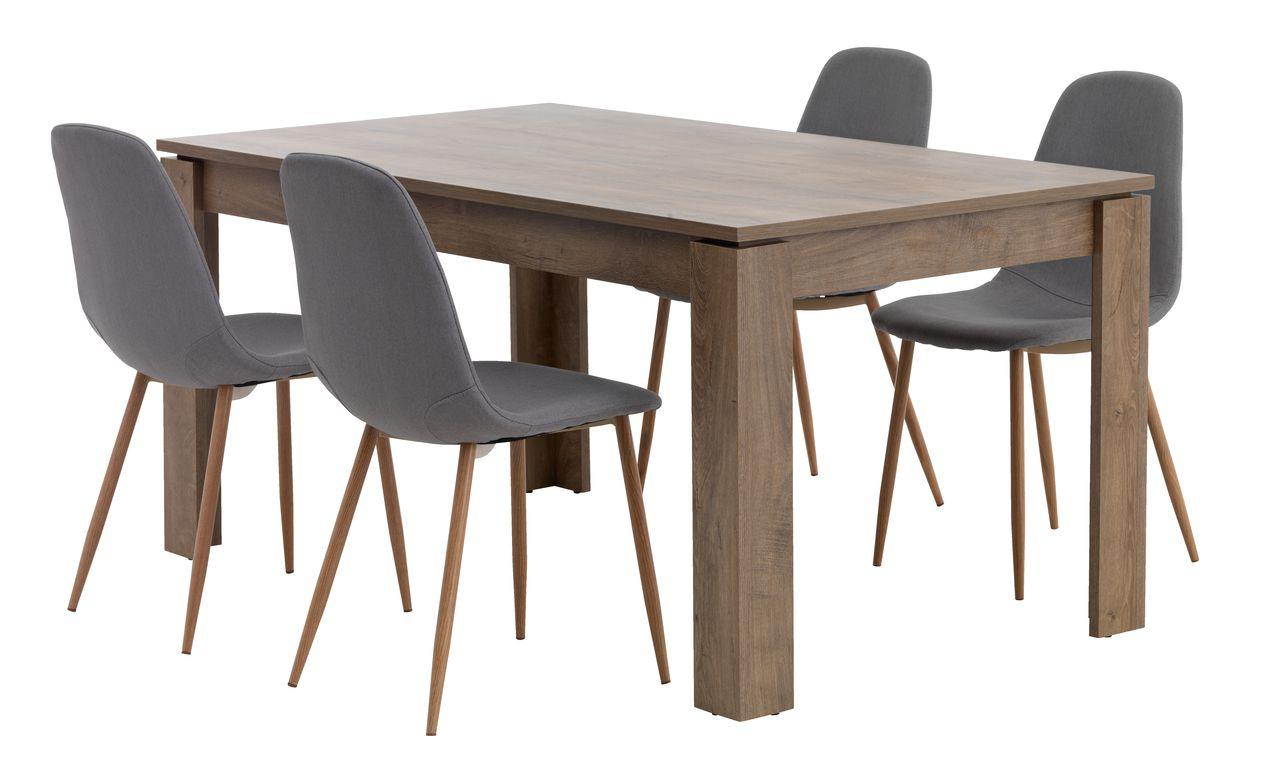 jysk dining room chair covers summer infant beach vedde l160 w oak 43 4 jonstrup grey
