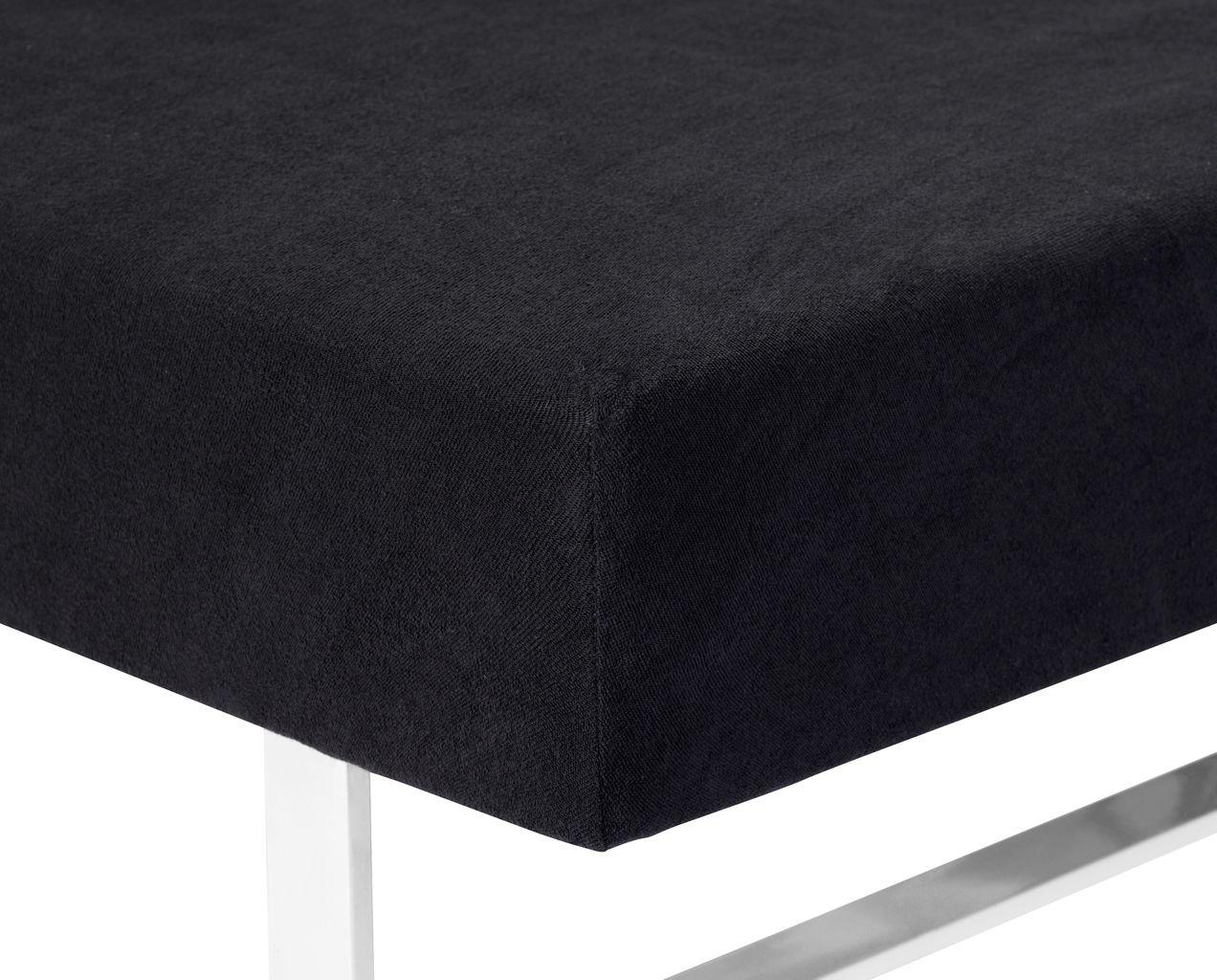 Hoeslaken badstof 90x200210x40 zwart  JYSK