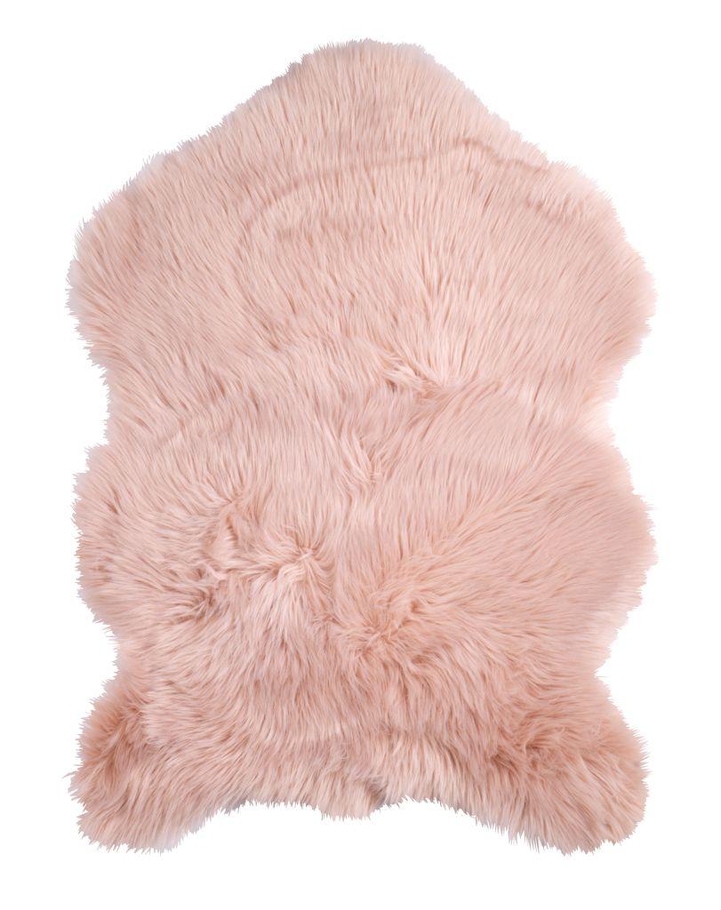 Imitatie lamsvacht TAKS 60x90cm roze  JYSK