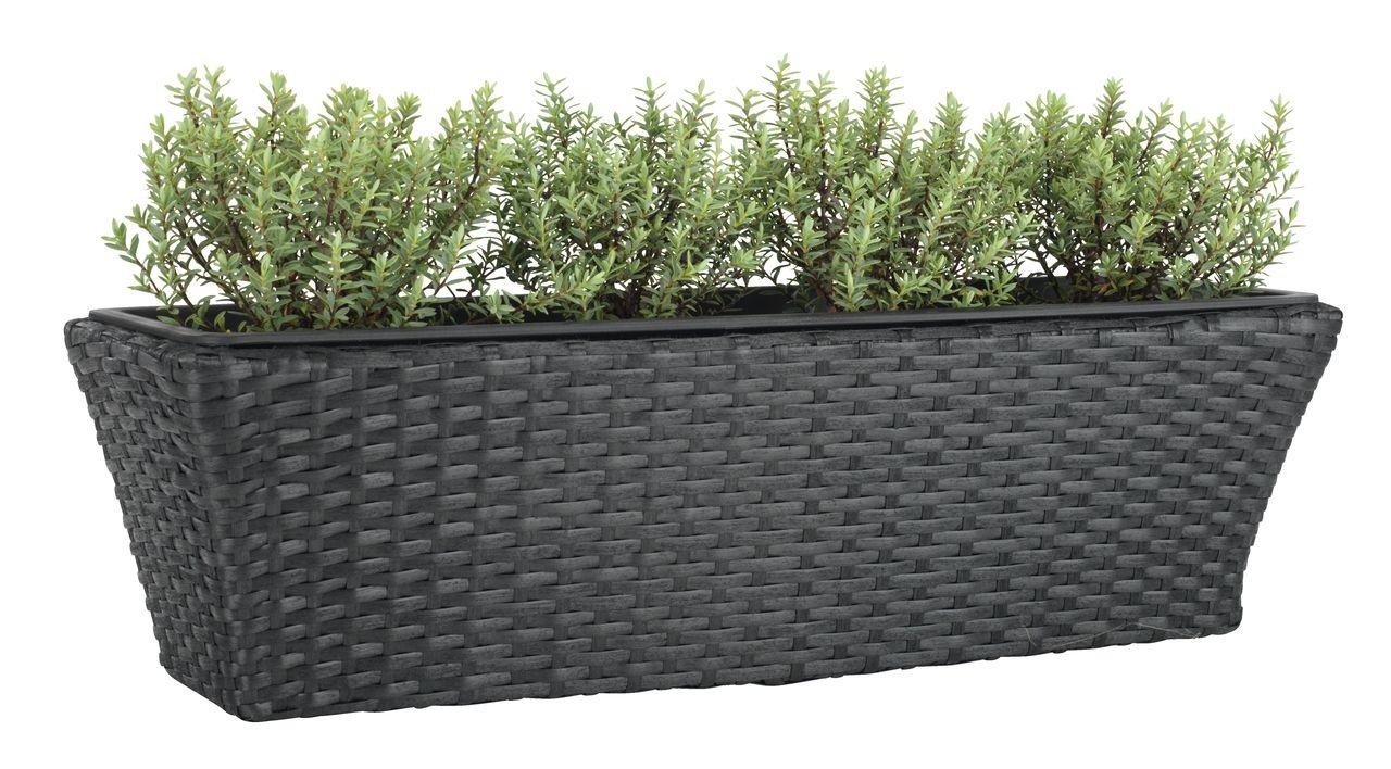 Balkon bloembak KORP B20xL60xH19 zwart  JYSK