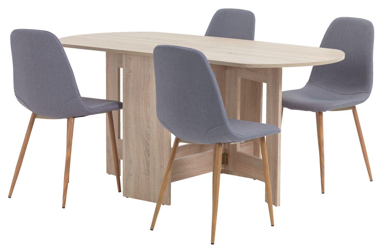 jysk dining room chair covers cheap christmas obling l100 163 oak 43 4 jonstrup grey