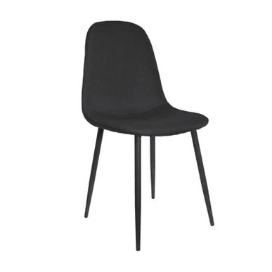 chaise scandinave en tissu noir pieds