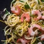 Low Carb Keto Shrimp Scampi Recipe - Summer Squash Noodles