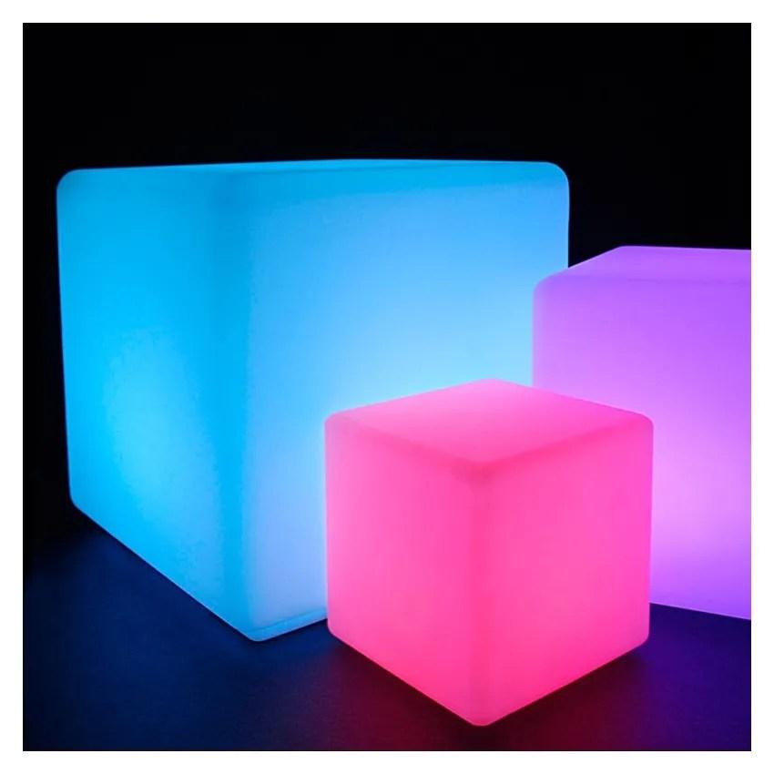 Cubo LED RGBW 40cm Ricaricabile  Ledkia Italia