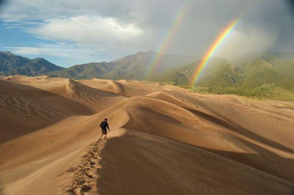 Hiking Through Great Sand Dunes National Park Colorado Photo