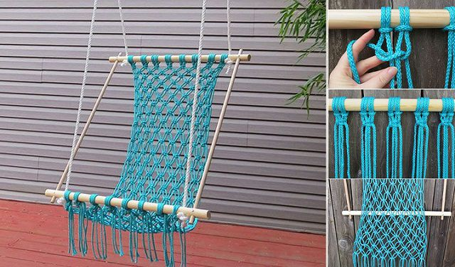 how to make a hanging chair stool sofa brilliant diy way the coziest from scratch for real summer relaxing