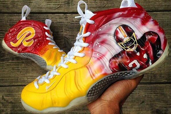 Redskins Show off Wild Customized Sean Taylor Sneakers