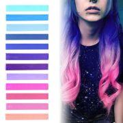 galaxy hair blue purple lilac