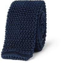 Navy Knit Tie: Charvet Slim Knitted Silk Tie | Where to ...