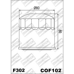 Buy CHAMPION OILFILTER COF102 DIVERSE HONDA/KAWA.(F302