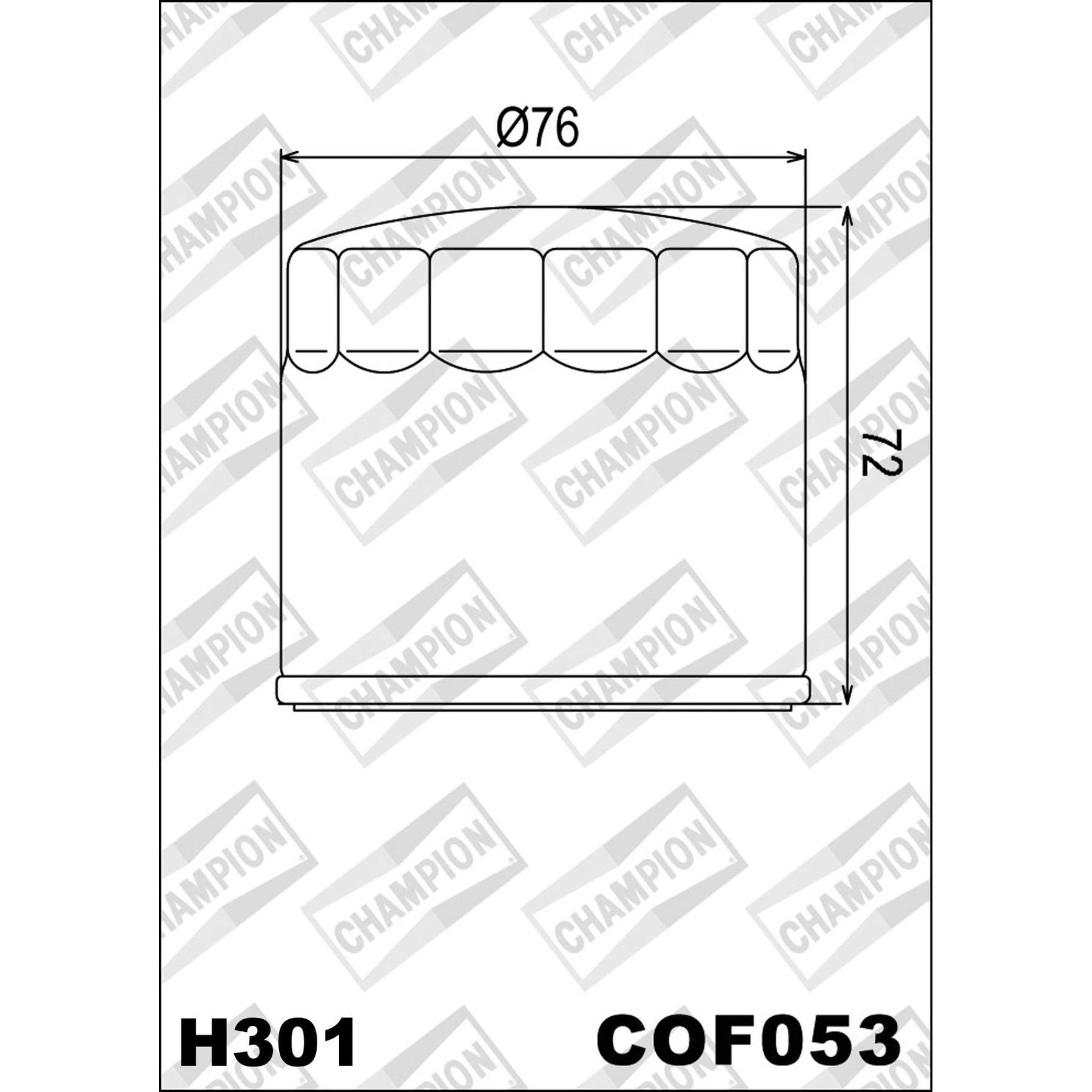 Buy CHAMPION OILFILTER COF053 DIVERSE CAGIVA/DUC.(H301