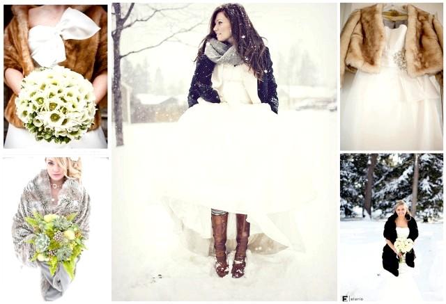 свадебное платье на зимнюю свадьбу