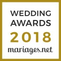 Mariposa Photographe, gagnant Wedding Awards 2018 Mariages.net