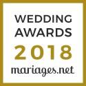 Unique Cérémonies - Officiant de cérémonie, gagnant Wedding Awards 2018 Mariages.net