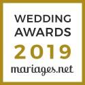 Unique Cérémonies, gagnant Wedding Awards 2019 Mariages.net