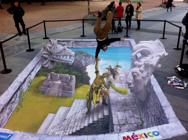 Of World' Mind-bending 3d Chalk Drawings