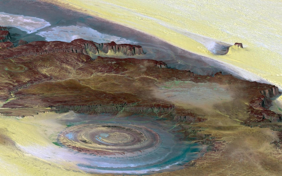 The Richat Structure from space