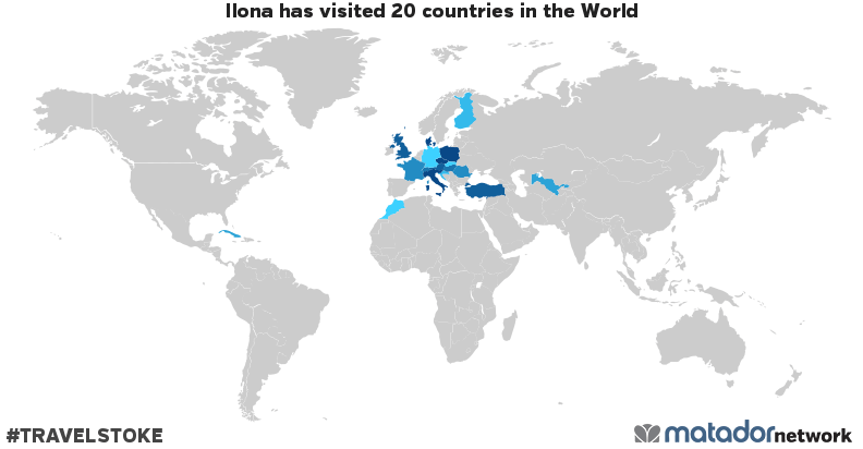 Ilona's Travel Map
