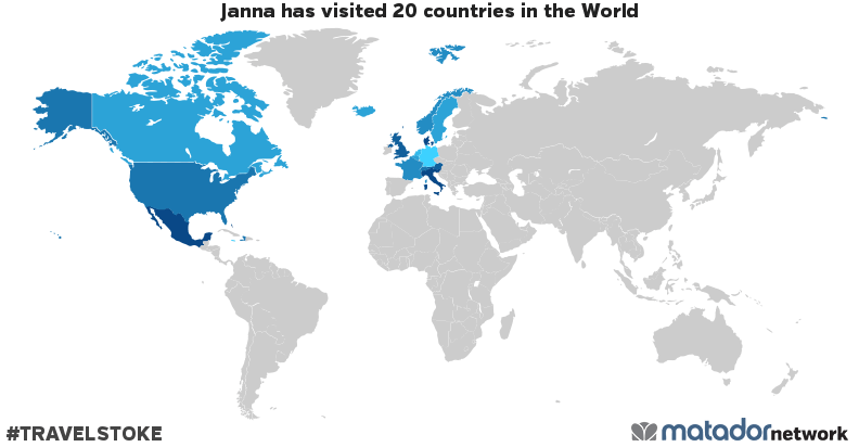 Janna's Travel Map