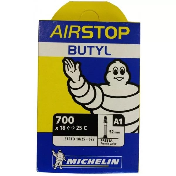 Chambre à Air Vélo Route Michelin Airstop Butyl 700x1825