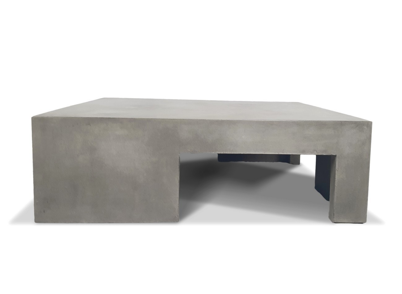 table basse carree beton