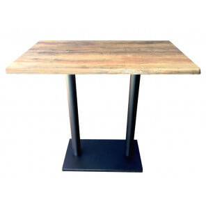 oldwood table haute avec plateau effet