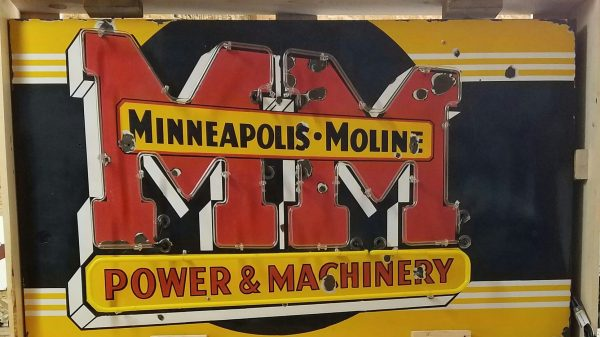 Minneapolis Moline Original Porcelain Neon Sign Sspn 39x67