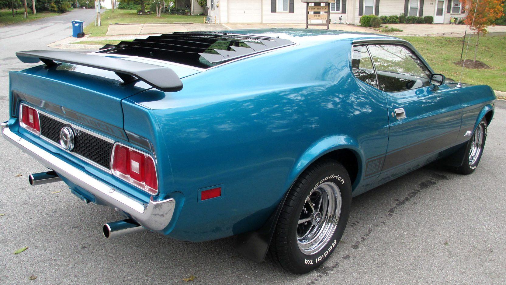 Clear, original green tint and custom grey. 1973 Ford Mustang Mach 1 Fastback S51 Kansas City 2013