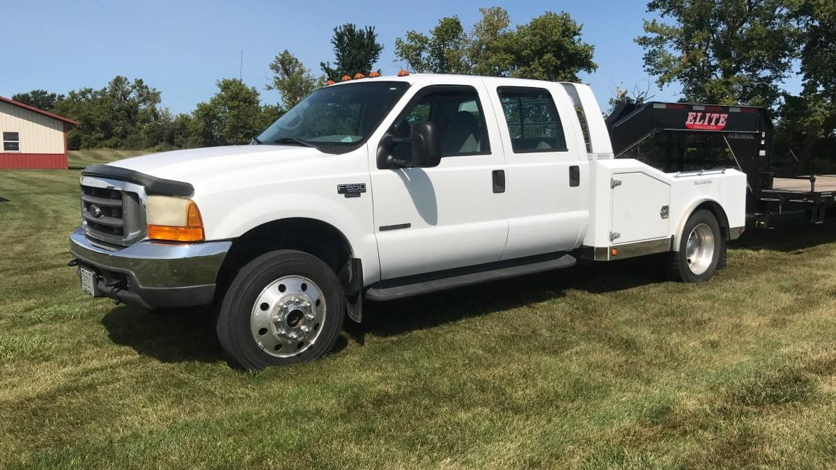 small resolution of 2001 ford f550 western hauler pickup 1 full screen