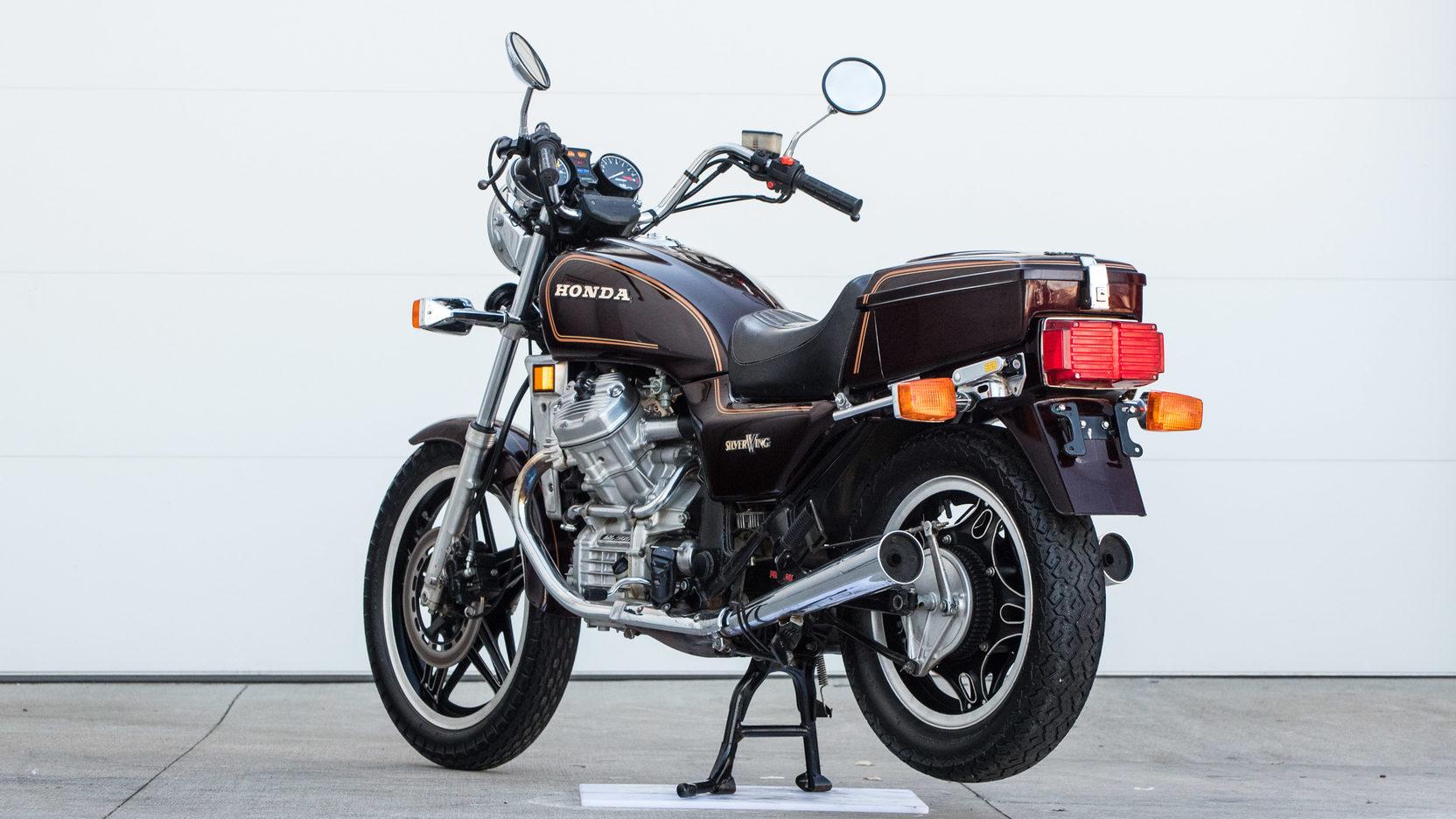 Silver 1982 Honda Wing Motorcycle