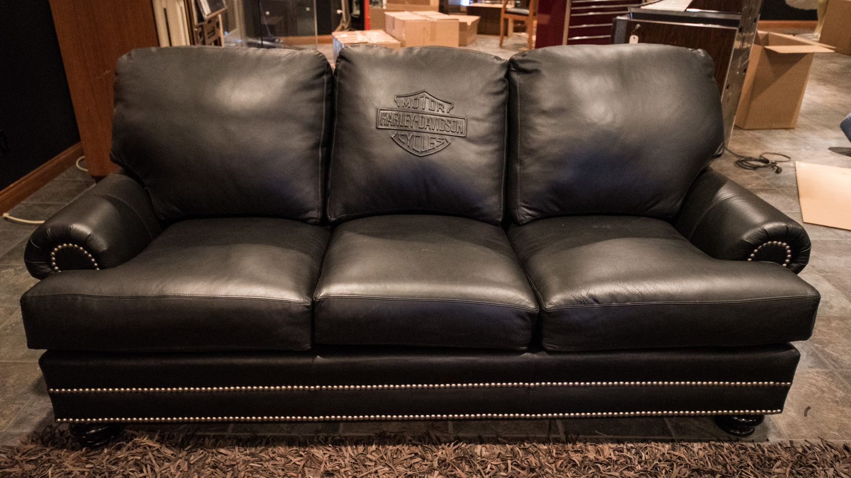 Harley Davidson Chairs Harley Davidson Leather Couch And 2 Leather Chairs K86