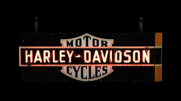 Harley-davidson Motorcycle Neon Sign Dspn 70x31x13 Lot
