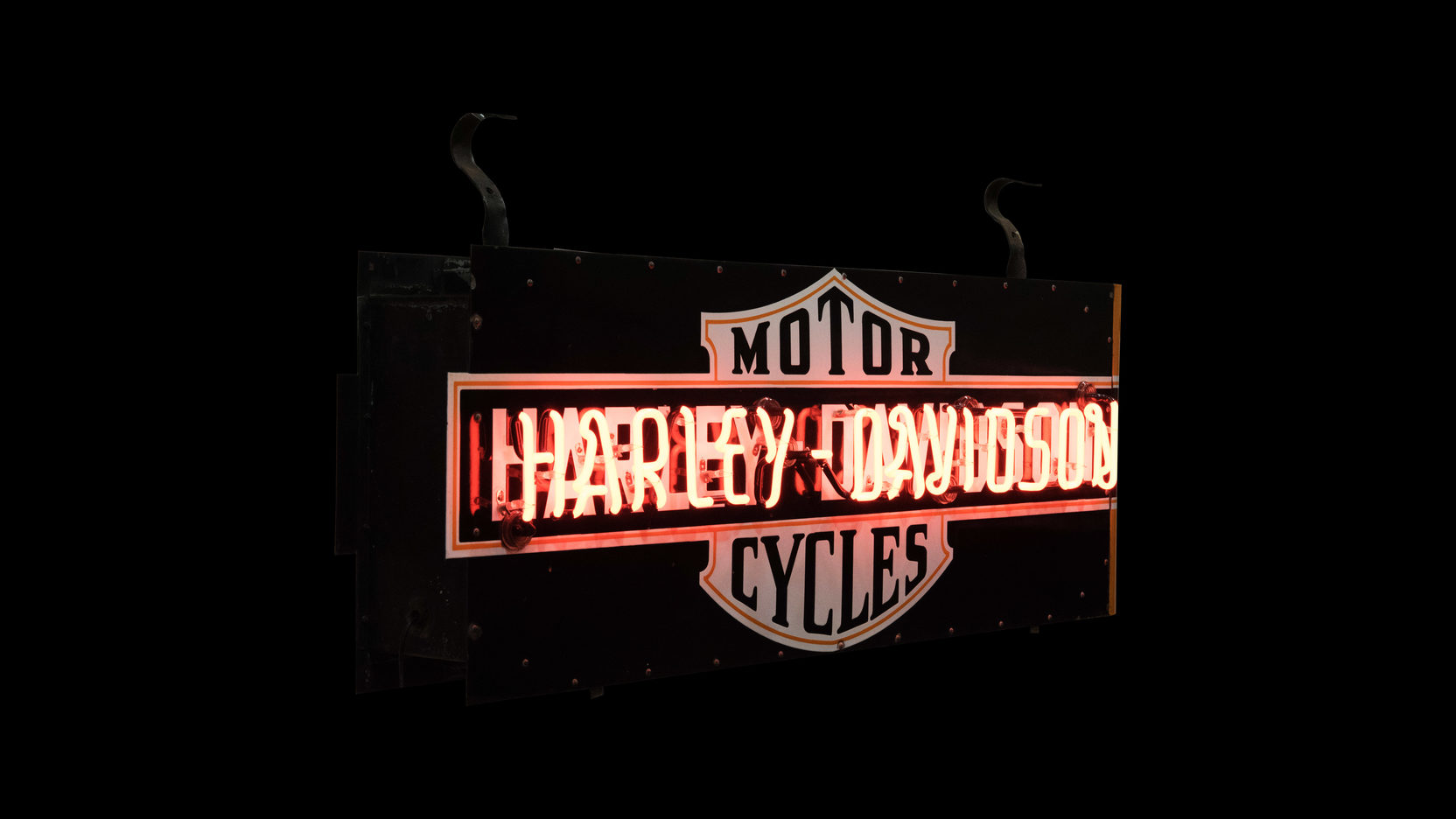 Harley-davidson Motorcycle Neon Sign Dspn 70x31x13 F33