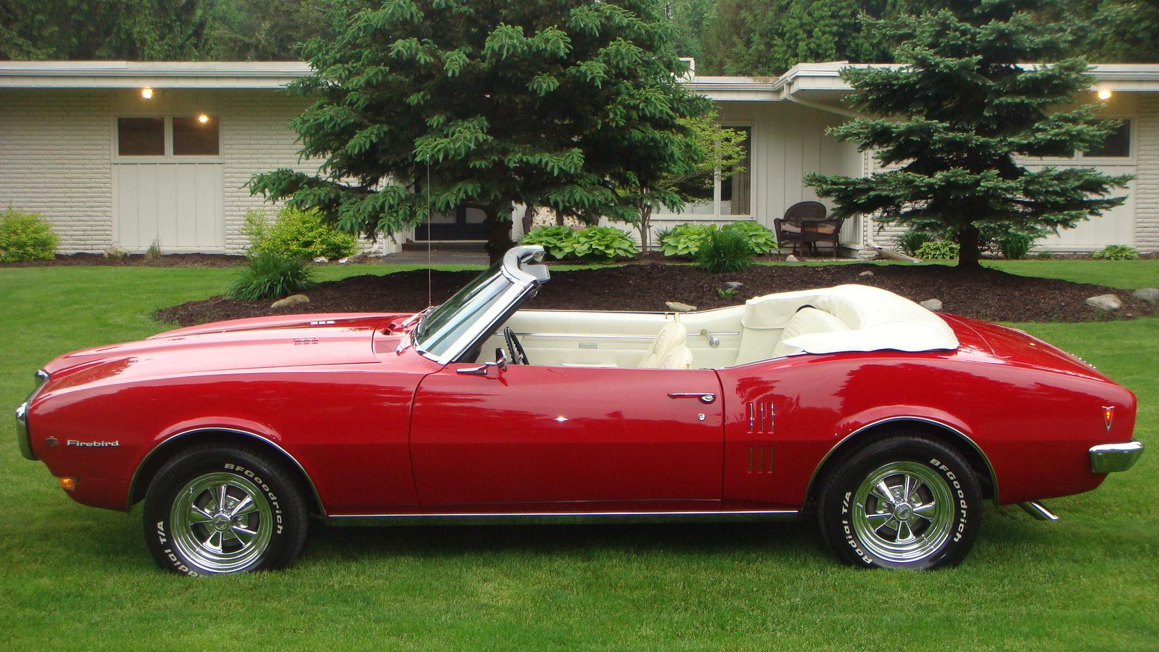 Firebird Red Top 1968 Pontiac White