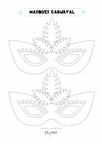 Coloriage Carnaval Momes.Carnaval Coloriage Imprimer Masque Carnaval Coloriage