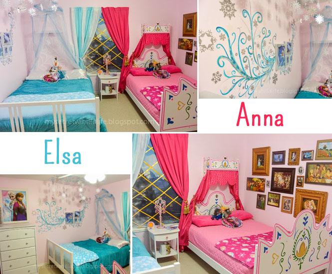 La chambre denfant Elsa et Anna de la Reine des Neiges  Momesnet