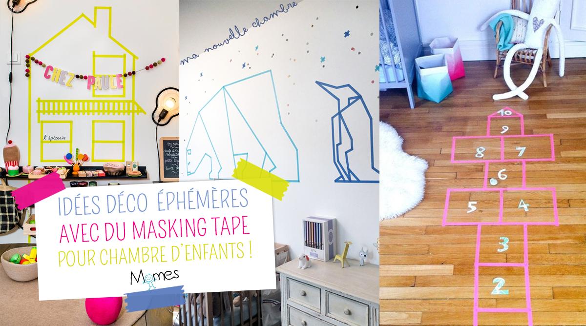 10 ides dco avec du Masking Tape pour la chambre des enfants  Momesnet