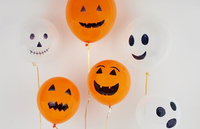 ballons citrouille fantome halloween