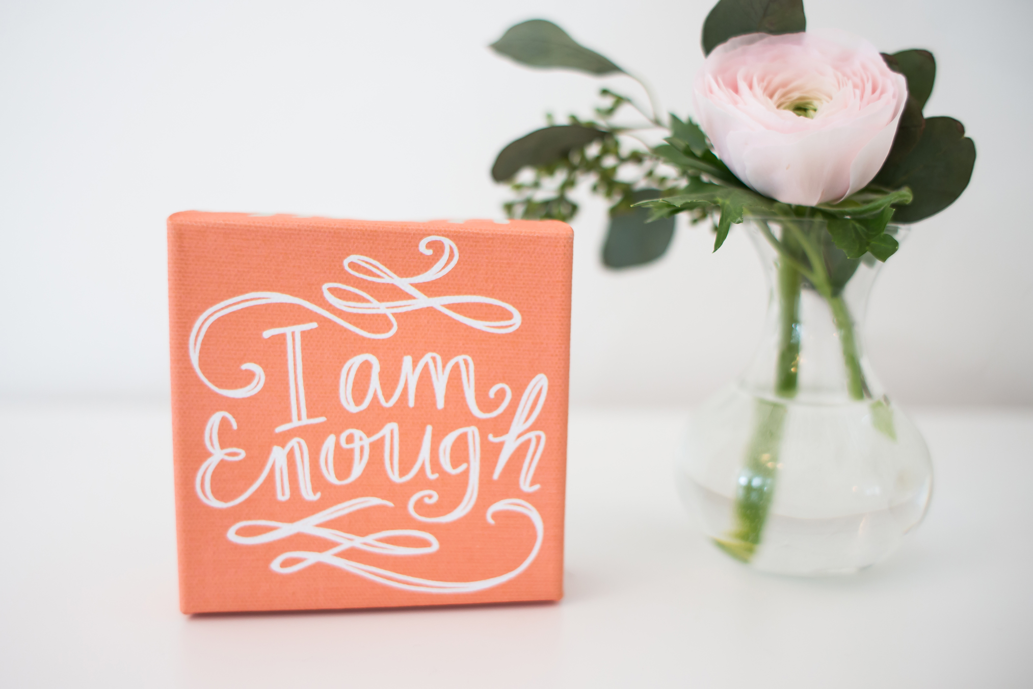 Get our brand new I Am Enough Canvas for just $6 right now!