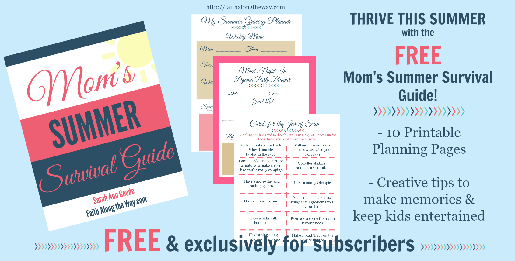 Free Printable Mom S Summer Survival Guide