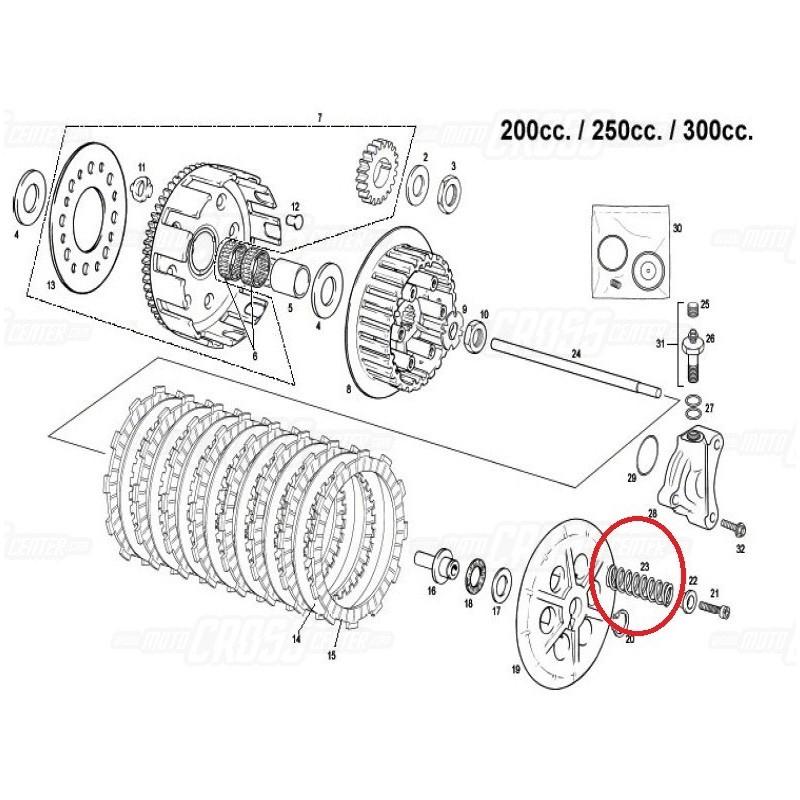 CLUTCH SPRING ORIGINAL GAS GAS EC 200, 250 & 300CC (GAS